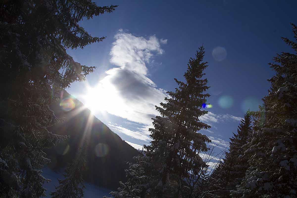 Der Spitzingsee - schneesicher und schön